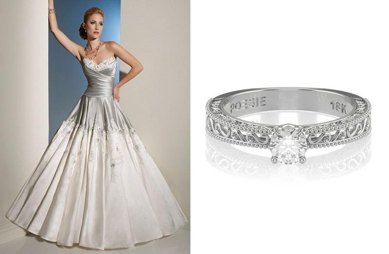 meu-vestido-de-noiva-pode-combinar-com-meu-anel-de-noivado-vestido-branco-e-prateado-anel-de-noivado-reloque-poesie-de-ouro-branco