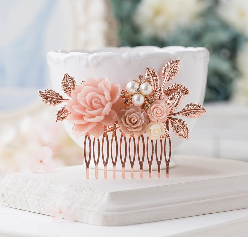 acessorio-de-cabelo-pente-casamento-rosa-com-banho-rose
