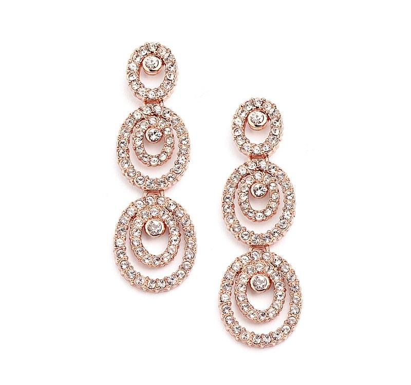 8-brinco-de-ouro-rosa-comprido-formas-circulares
