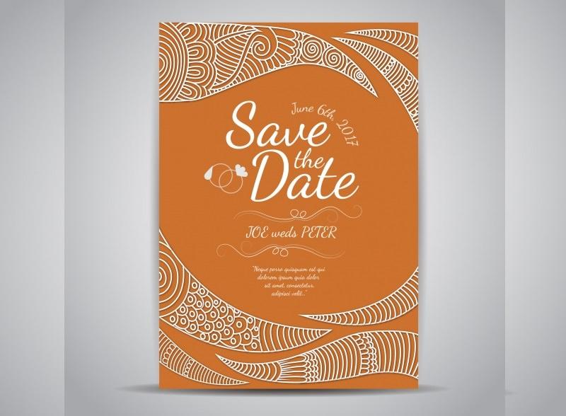 1-convite-de-casamento-laranja-com-arabescos