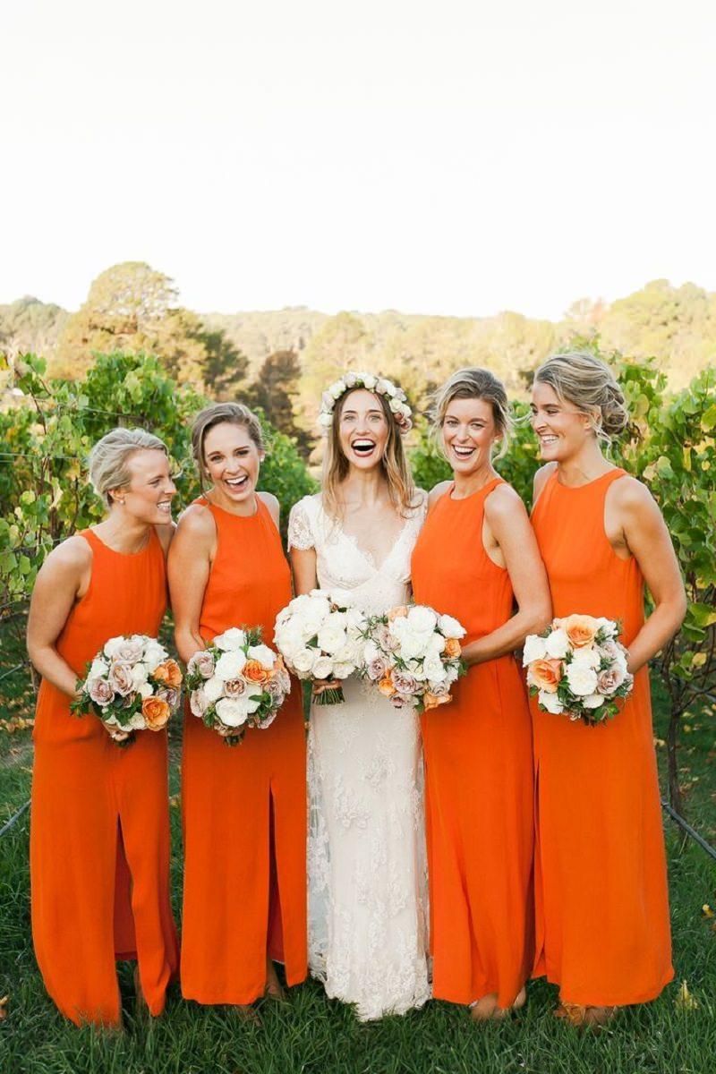 1-madrinhas-de-casamento-com-vestido-laranja