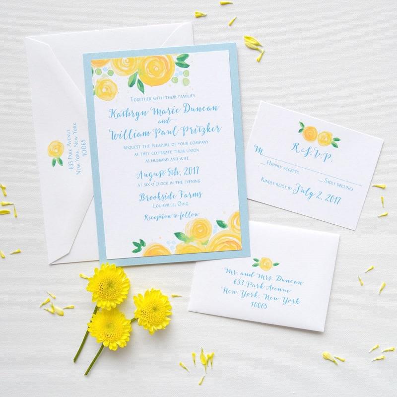 1-convite-de-casamento-tematico-amarelo