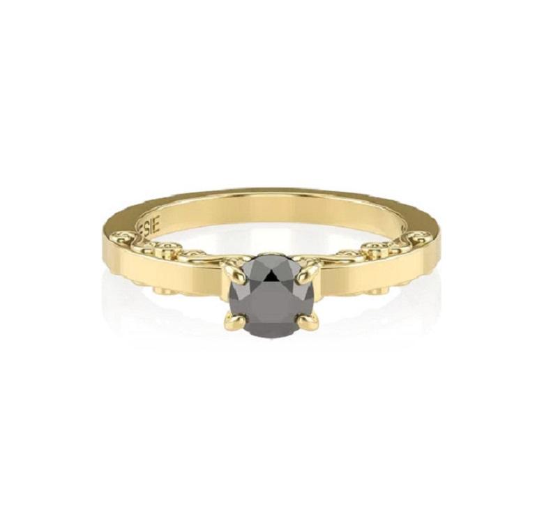 anel-de-noivado-de-ouro-amarelo-e-diamante-negro-trabalhado-sansfin-poesie