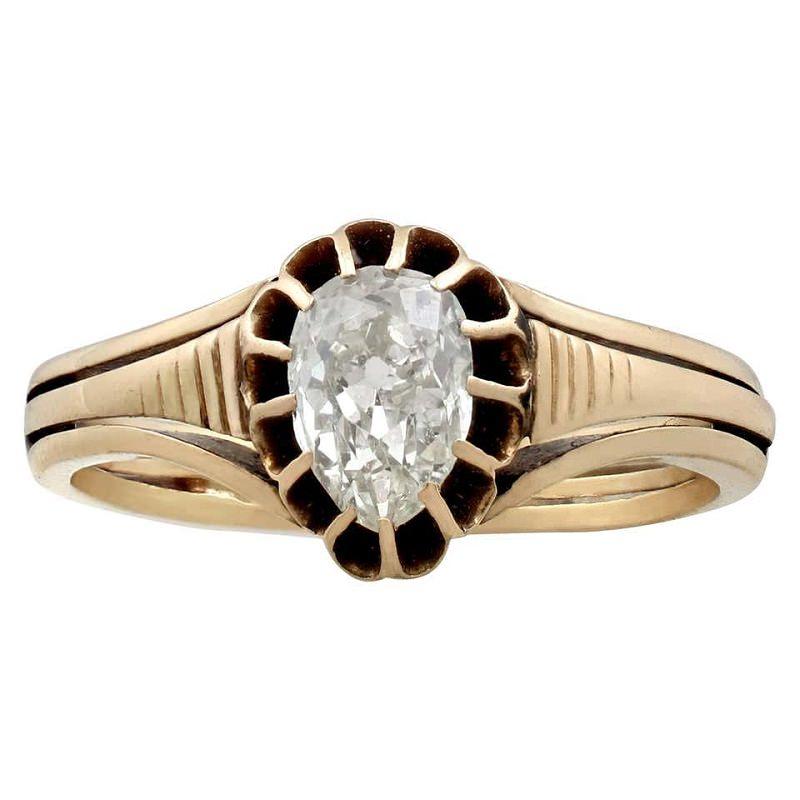 anel-de-noivado-vitoriano-vintage