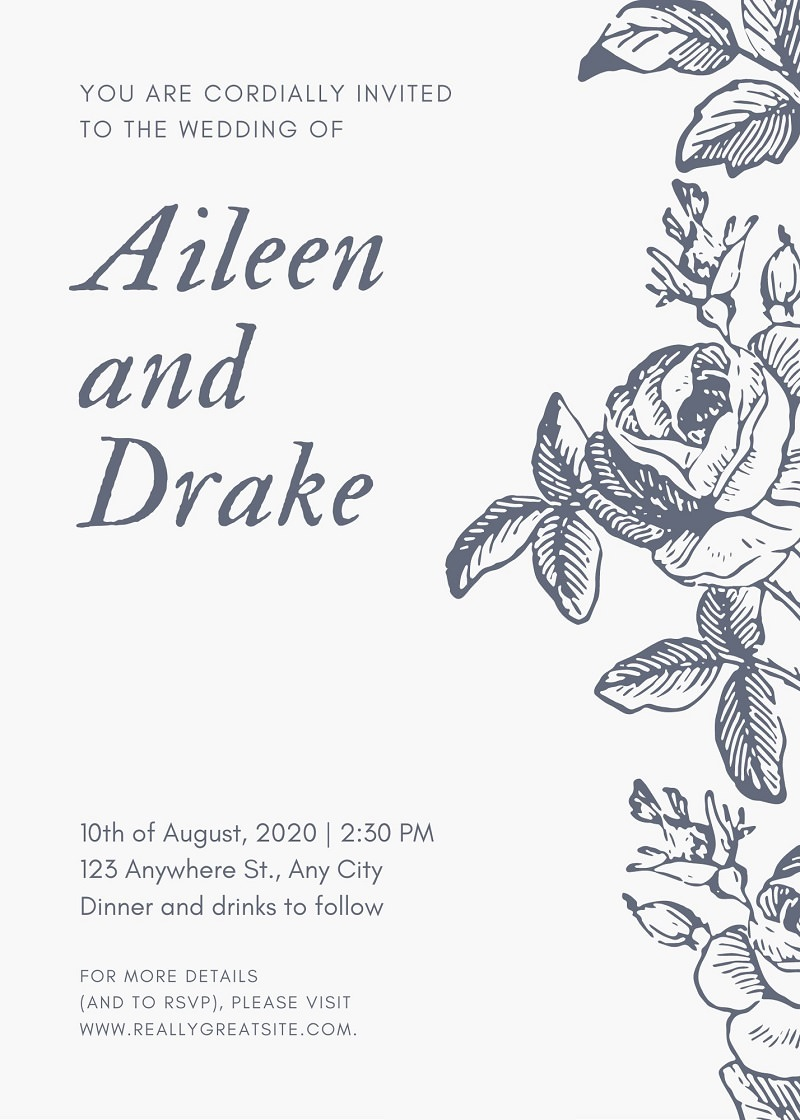 convite-de-casamento-com-flores-retro-casamento-com-convite-online